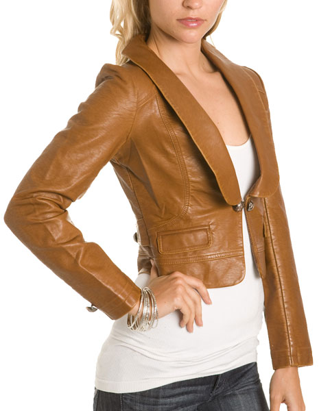 "Windsor ""Rust"" Faux Leather Jacket $59.90"